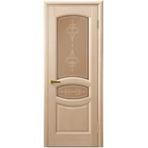 Дверь шпонированная межкомнатная остекленная Анастасия