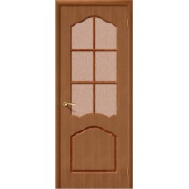 Дверь шпонированная межкомнатная остекленная Каролина (Т-03)