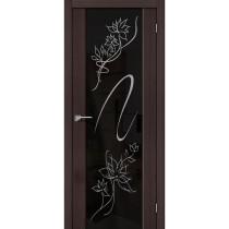 Дверь межкомнатная экошпон остекленная S-13 Print