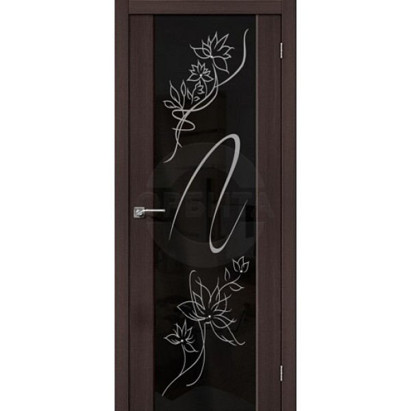 Дверь межкомнатная экошпон остекленная S-13 Stamp