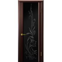 Дверь шпонированная межкомнатная остекленная Трава 2