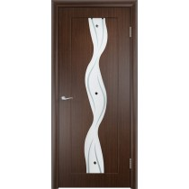 Дверь межкомнатная ламинированная остекленная Вираж