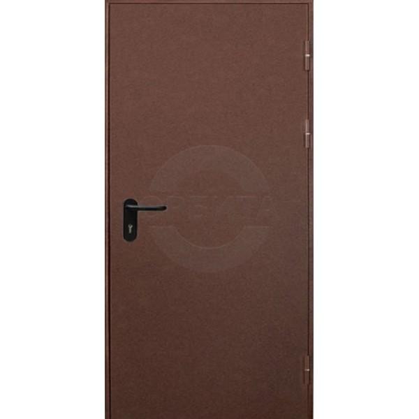 Дверь металлическая противопожарная EI60 RAL8017