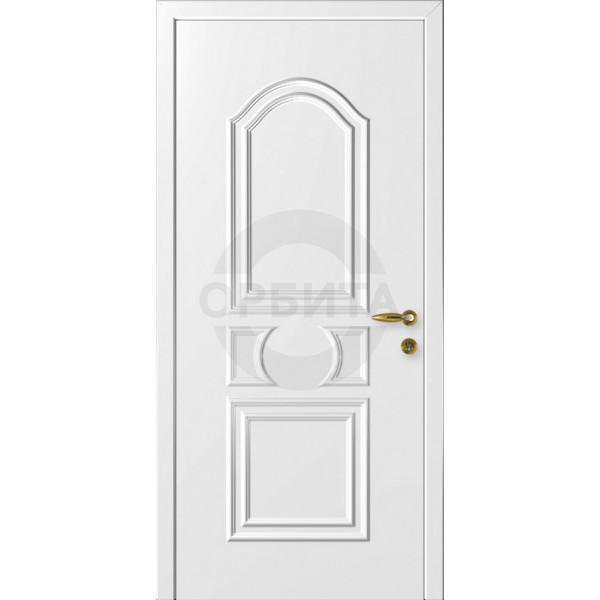 Дверь пластиковая одностворчатая глухая филенчатая Нарцисс