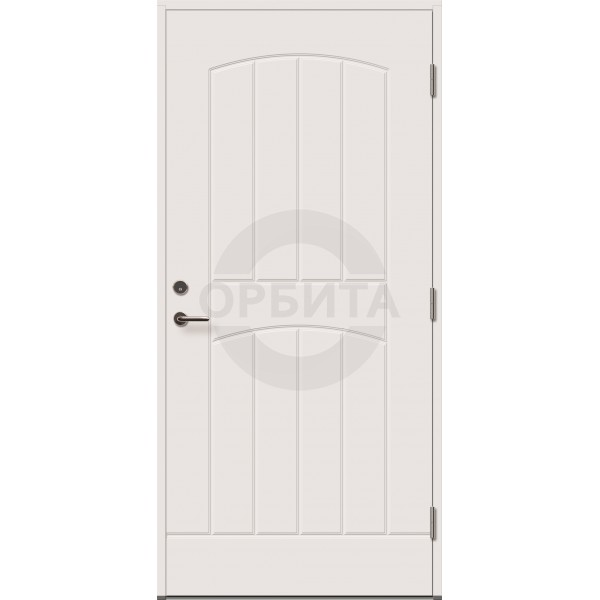 Дверь входная деревянная белая Gracia